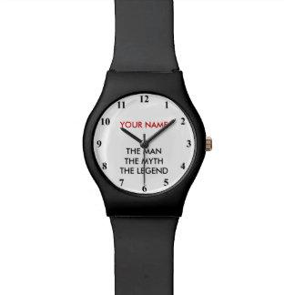 人の神話の伝説の腕時計男性への| Personalizable 腕時計