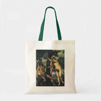 人の秋; Titian著アダムそしてイブ トートバッグ