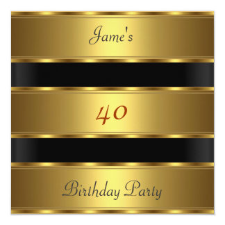 人の第40誕生会の金ゴールドの黒 カード