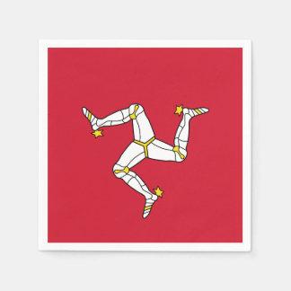 人の紙ナプキンの島の旗 スタンダードカクテルナプキン