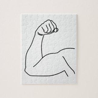 人の腕の屈曲の抽象的なスケッチ ジグソーパズル