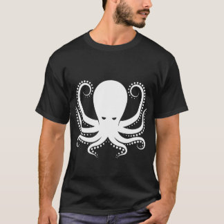 人の航海ので黒いタコのワイシャツ Tシャツ