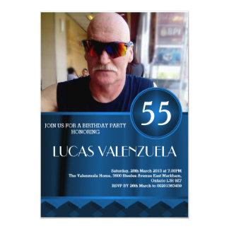 人の誕生日の強打の招待状のテンプレート カード
