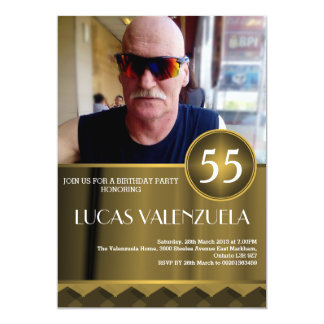 人の誕生日の強打の招待状 カード