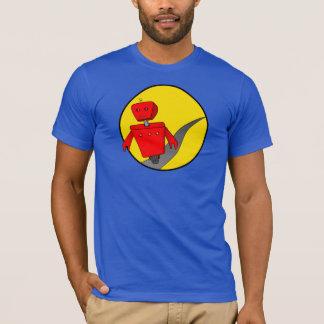 人の逃亡のロボットTシャツ(DarkColour) Tシャツ