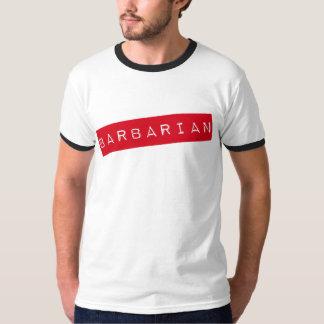 人の野蛮な(必要性の訓練)信号器のTシャツ Tシャツ