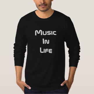 人の長袖のTシャツ-生命の音楽 Tシャツ