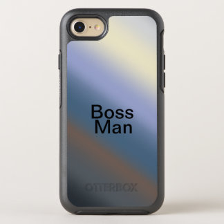 人の電話箱の銀または鋼色のブレンドを指揮して下さい オッターボックスシンメトリーiPhone 8/7 ケース