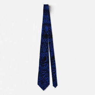 人の青い鬼のはすプロタイ ネクタイ