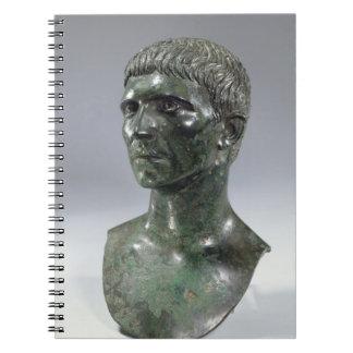 人の青銅色の頭部、ローマ、第1セントの開始 ノートブック