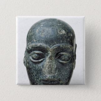 人の頭部 5.1CM 正方形バッジ