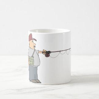 人の魚釣りのマグ コーヒーマグカップ