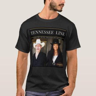 人の黒いティーの写真のロゴ Tシャツ