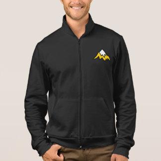 人の黒いフリースのジャケット ジャケット