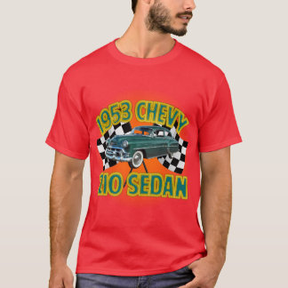 人の黒1953年のChevy 210 Tシャツ