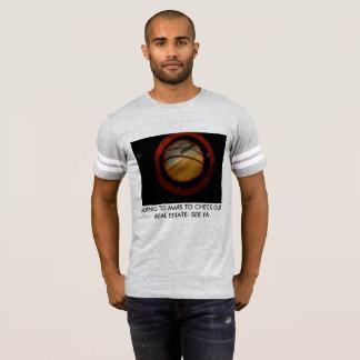 人のfootballTワイシャツw/planet Tシャツ