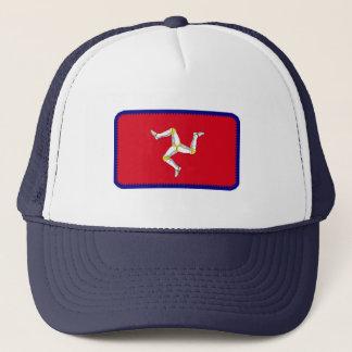 人のManx旗の島は効果の帽子を刺繍しました キャップ