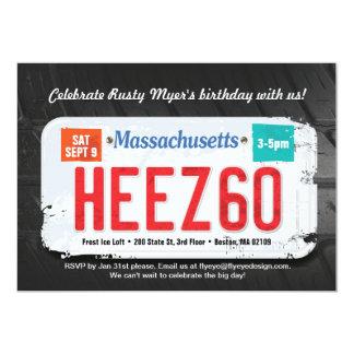 人のMassachusettの第60誕生日の招待状 カード