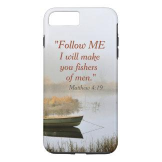 人のMatthewの4:19の聖書の詩の漁師 iPhone 8 Plus/7 Plusケース