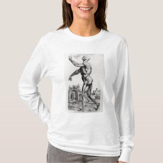 人のMusculatureの構造(b/wのneg及びプリント) Tシャツ