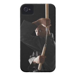 人のnunchakuと運動している撃たれるスタジオ Case-Mate iPhone 4 ケース