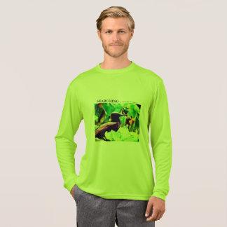 人のSPORT-TEKの長袖のTシャツ-黒いハト Tシャツ