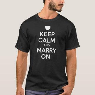 人のTシャツで結婚するために穏やか保って下さい Tシャツ