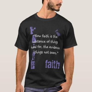 人のTシャツの信頼の聖なる書物、経典、ヘブライ11:1 Tシャツ