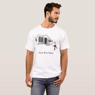 人のTシャツの切札の白い家の新しい訪問 Tシャツ