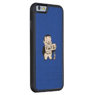 人のVapeのぽっちゃりしたレトロの灰色 CarvedメープルiPhone 6バンパーケース