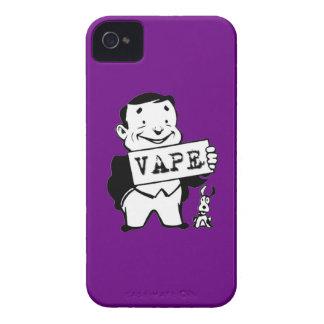 人のVapeのぽっちゃりしたレトロの紫色 Case-Mate iPhone 4 ケース