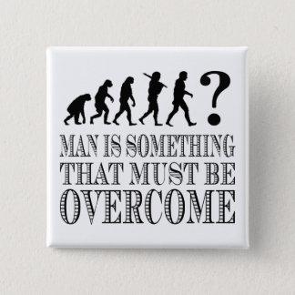 人は克服されなければならない何かです(Nietzsche) 5.1cm 正方形バッジ