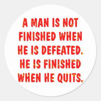 人は彼が敗北するとき終了しません ラウンドシール