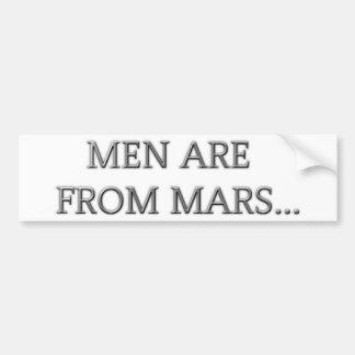 人は火星からあります バンパーステッカー