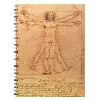 人体のレオナルド・ダ・ヴィンチの解剖学の勉強 ノートブック