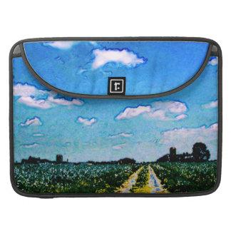 人力車での花のMacBookの折り返しの袖が付いている農場 MacBook Proスリーブ