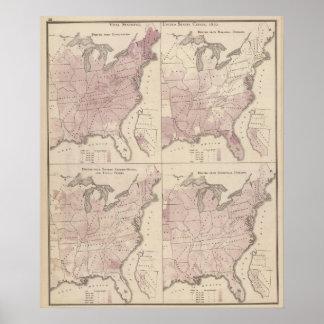 人口統計、米国の人口調査 ポスター