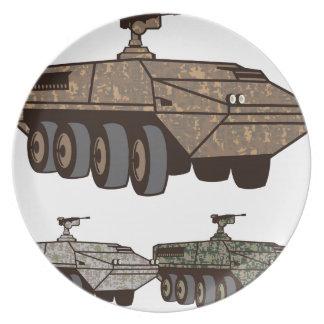 人員運搬車の迷彩柄のベクトル プレート