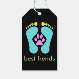 、人子供へ、最も最高のな犬女性はFriedlyの足です、 ギフトタグ
