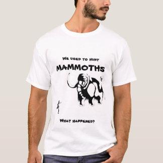 人対マンモス-引用文の… Tシャツ