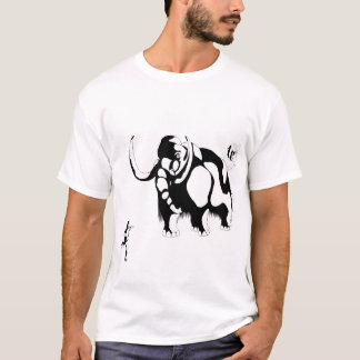 人対マンモス Tシャツ