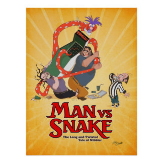 人対KickstarterからのヘビのドンBluthポスター ポスター