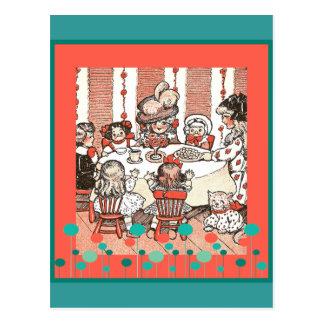 人形のパーティー ポストカード