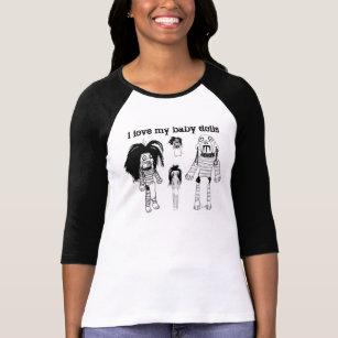 人形のワイシャツの女性のBellaに3/4の袖のRaglanヴードゥー教の呪いをかけて下さい Tシャツ