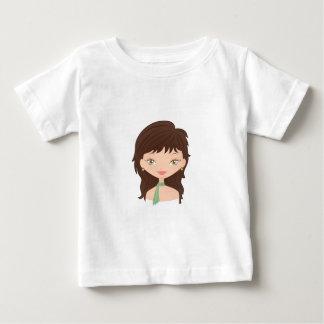 人形は上がりました ベビーTシャツ
