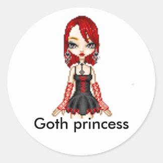 人形-アイコン、ゴシックの王女 ラウンドシール