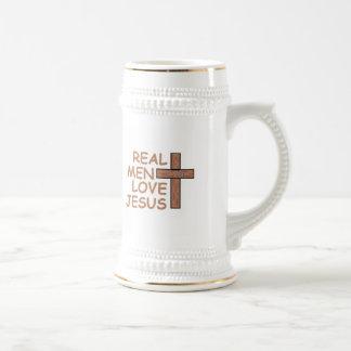 人愛イエス・キリスト実質のビールステイン ビールジョッキ