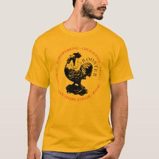 人格オンドリの中国のな(占星術の)十二宮図の印Lワイシャツ Tシャツ