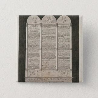 人権のフランスのな宣言 5.1CM 正方形バッジ