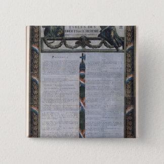人権の宣言のテーブル 5.1CM 正方形バッジ